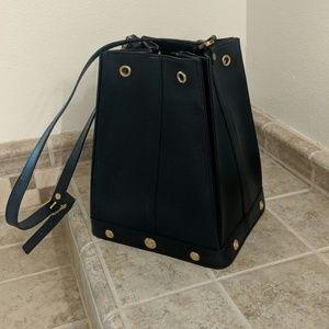 Philippe Charriol Black Vintage Tote Bag